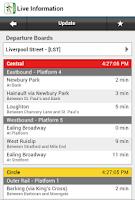 Screenshot of London Tube Free by Zuti