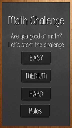 Math Problem Challenge Game