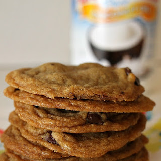 Coconut Oil Dark Chocolate Chip Cookies