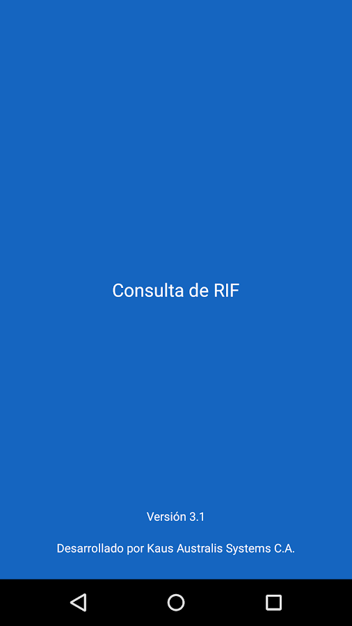 Consulta de RIF - screenshot