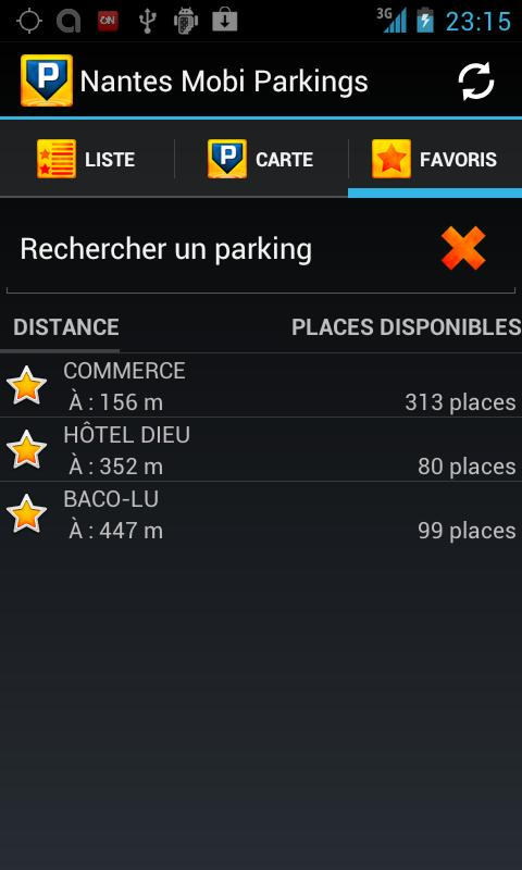 Nantes Mobi Parkings - screenshot