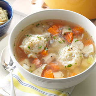 Healthy Chicken Dumpling Soup