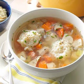 Healthy Chicken Dumpling Soup.