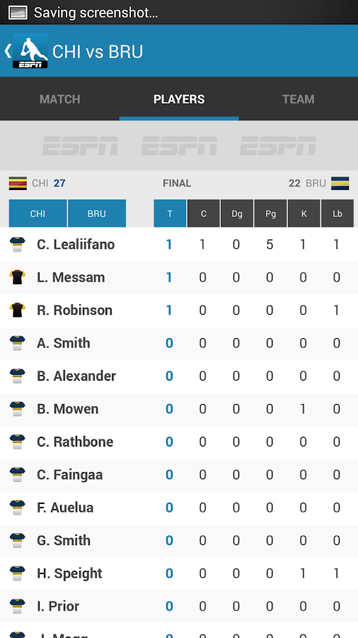 Rugby Live Scores - Rugby Now- screenshot