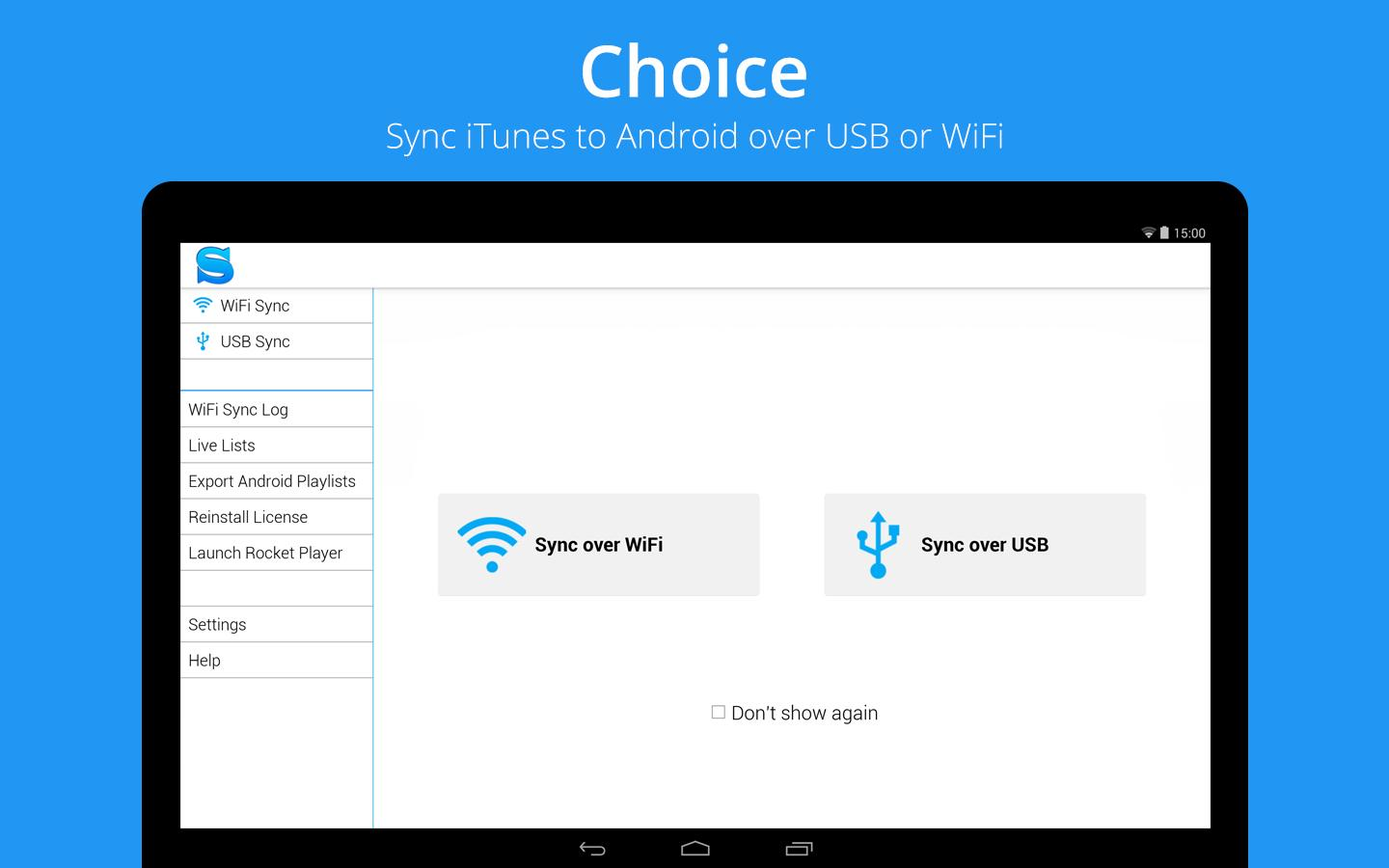 Sync iTunes to Android -iSyncr - screenshot