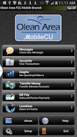 Screenshot of Olean Area FCU's MobileCU