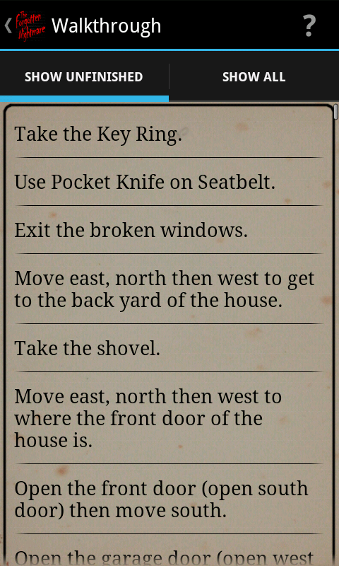 TFN - Text Adventure Game - screenshot