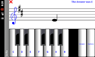 Screenshot of 1 learn sight read music notes