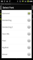 Screenshot of PIXEL Scrolling Text
