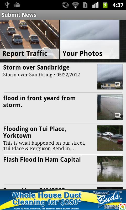 Hampton Roads Traffic fromWVEC - screenshot
