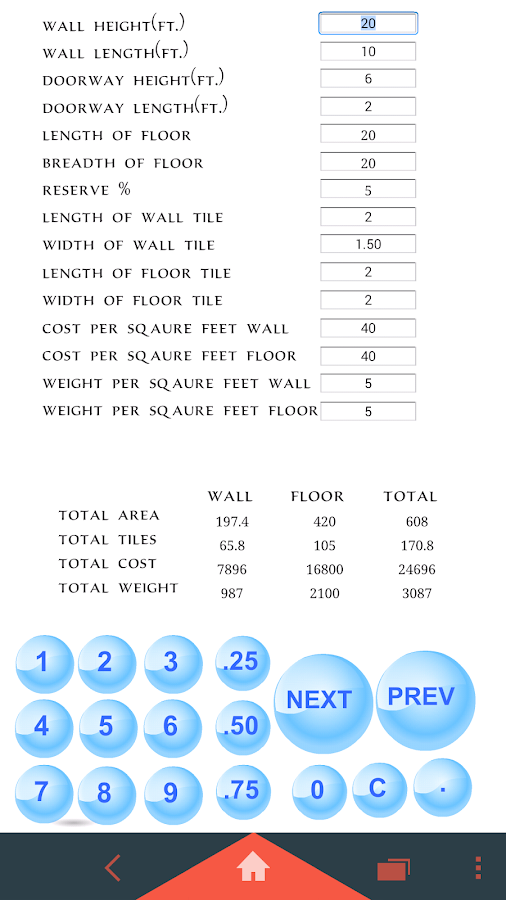 Tile Calculator Android Apps On Google Play