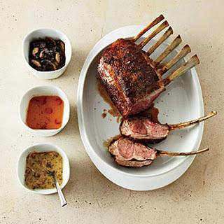 Rack of Lamb with Mustard-Shallot Sauce.