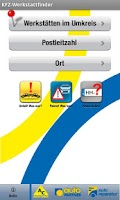 Screenshot of Werkstattfinder