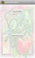 Screenshot of Personal Recipes