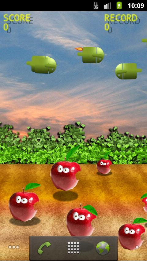 Bombs On Apples Free LWP- screenshot