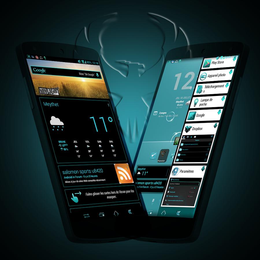 ReBorn Cyan - CM / AOSP Theme - screenshot