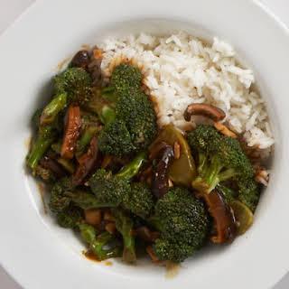 Broccoli & Shiitake Stir-Fry with Black Bean Sauce.