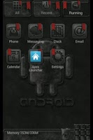 Screenshot of Black Android Apex/Go Theme