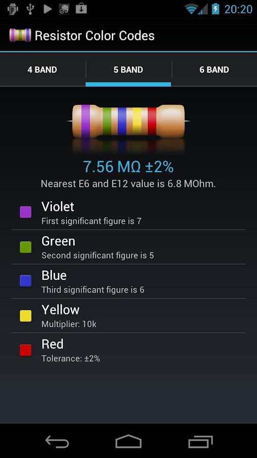 Resistor Color Codes - Android Apps On Google Play