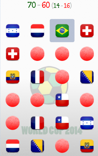 World Cup 2014 Memory Game