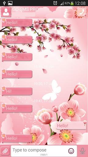 GO短信加强版樱桃花