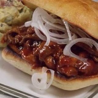 Sticky Beef Sandwich