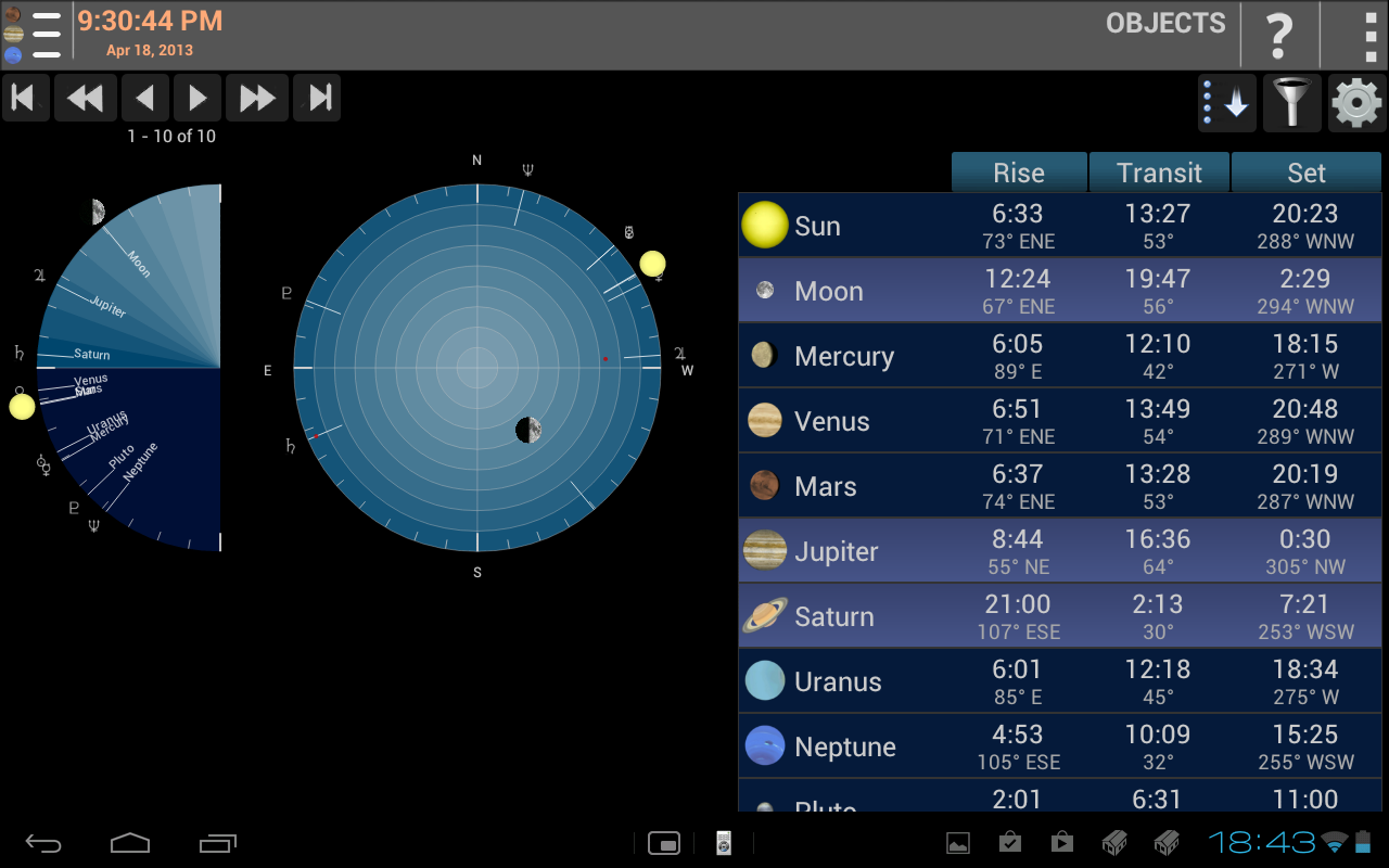 Mobile Observatory - screenshot