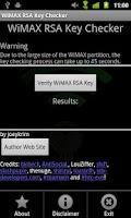 Screenshot of WiMAX Key Checker