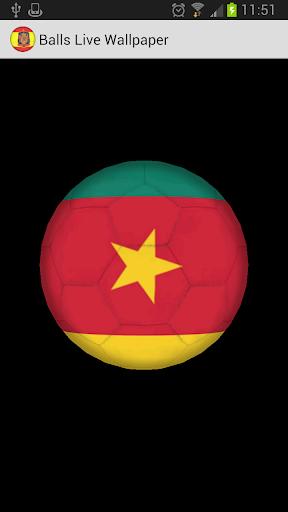3D Ball Cameroon LWP