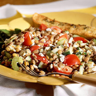 Lentil Salad with Feta Cheese