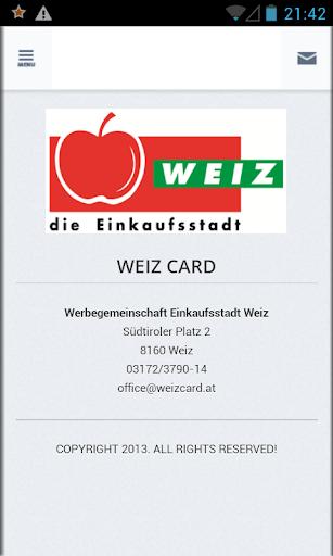 Weiz Card