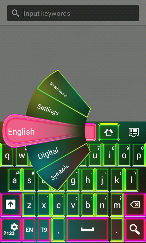 Color Neon Keypad - screenshot