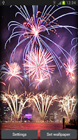 Screenshot of Fireworks live Wallpaper
