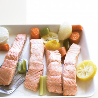 Simple Poached Salmon.