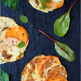 Yam and Turnip Galettes.