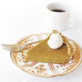 Pumpkin Pie with Spiced Whipped Cream.