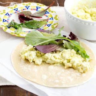 Healthy Avocado Egg Salad Wrap.