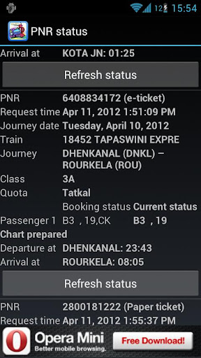 PNR STATUS AND TRAIN INFORMATION