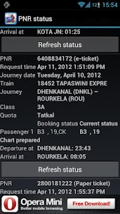 PNR status and train info - screenshot thumbnail