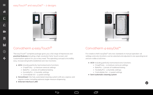 Convotherm 4 easyTouch™- screenshot thumbnail