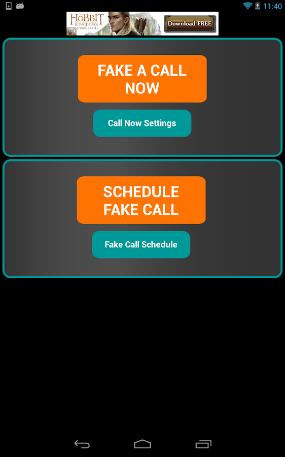 Fake-A-Call Free - screenshot