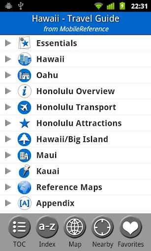 Hawaii - Travel Guide Map