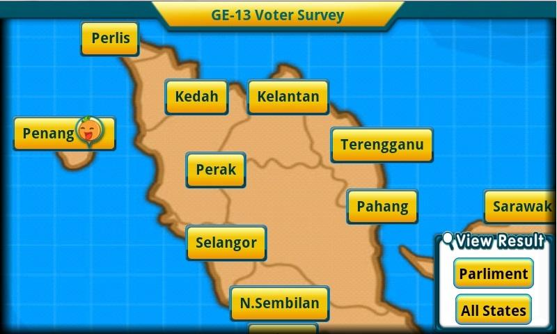 GE-13 Voter Survey - screenshot