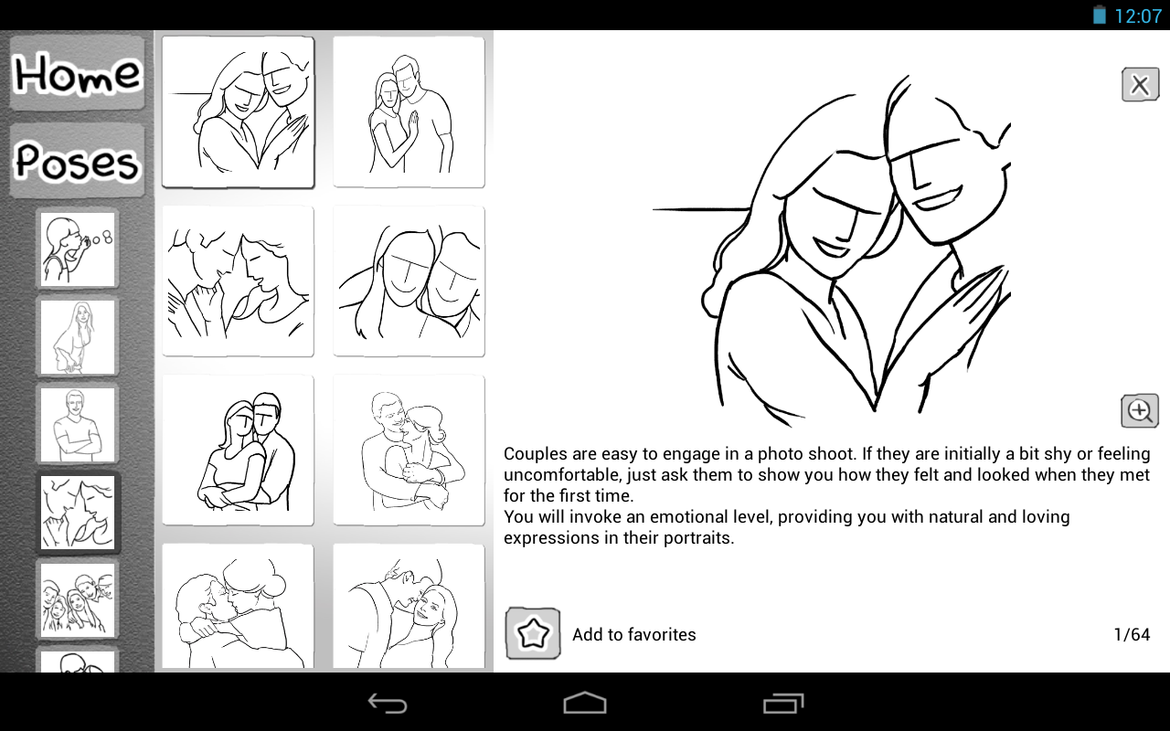 Posing App - screenshot