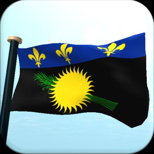 瓜德羅普島旗3D免費動態桌布 LOGO-APP點子