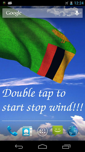3D Zambia Flag Live Wallpaper+