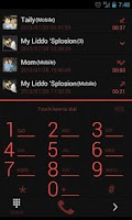 Screenshot of GOContacts Theme Holo Red