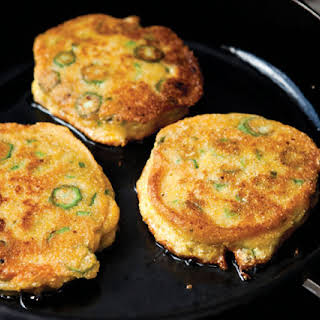 Okra Cornmeal Cakes.