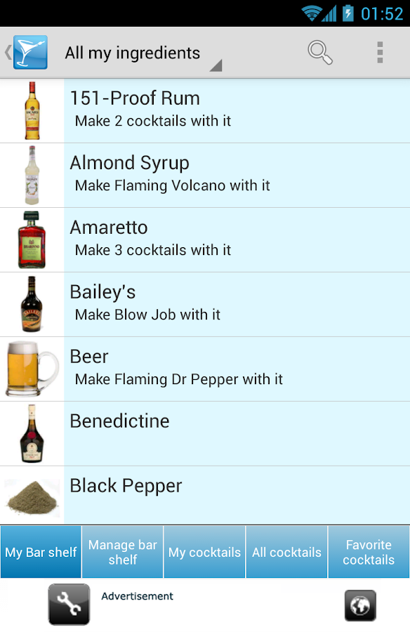 My Cocktail Bar Drink Recipes - screenshot