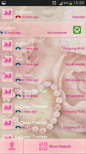玩免費個人化APP|下載ExDialer粉色蝴蝶结 app不用錢|硬是要APP